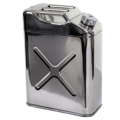 JERRY CAN STAINLESS STEEL 20 Litre - UN approved - HIGHLY POLISHED marine 4 x 4