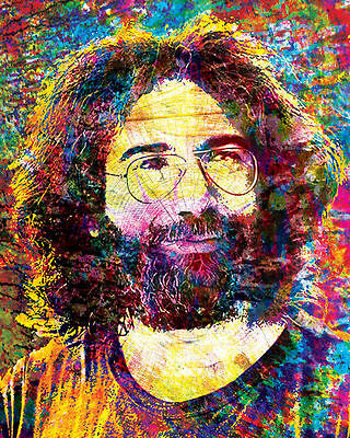 Jerry Garcia Artwork, Grateful Dead Canvas, GD Poster, The Dead, Jerry Print