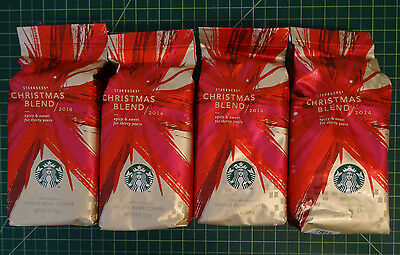 Starbucks Christmas Blend Whole Coffee Beans 2014 - 2 Pounds, 4 Bags  FREE SHIP