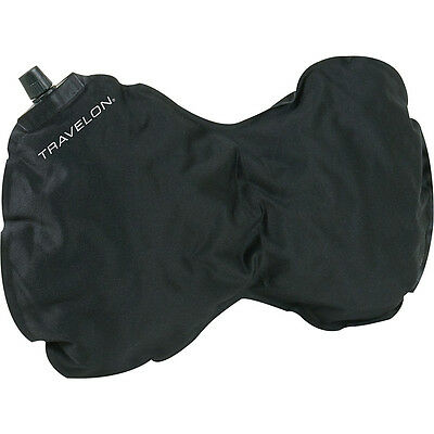 Travelon Self Inflating Neck and Back Pillow - Black Travel Pillows & Blanket
