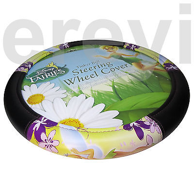 TINK SPRING FLOWER FAIRY STEERING WHEEL COVER Car Auto Flirty Tinker Bell Disney
