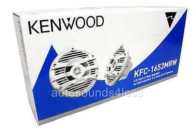 "Kenwood KFC-1653MRW 150 Watts 6-1/2"" 2-Way Marine Boat Audio White Speakers 6.5"""