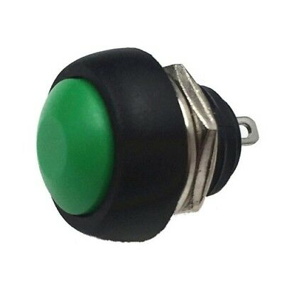 Small round  push button switch Momentary on/off  IN GREEN, UK