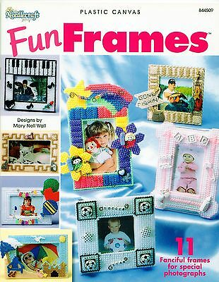 Plastic Canvas Fun photo Picture Frames Birthday Baby Fishing Beach Music