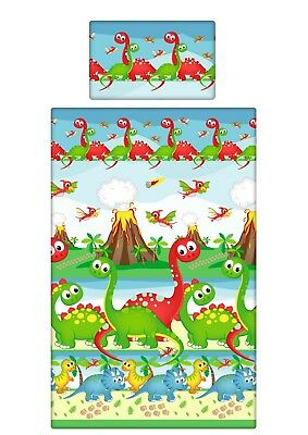 Bedding set for Pram/Crib/Cradle/Cot Cot bed/Toddler/Junior - Green Dinosaur
