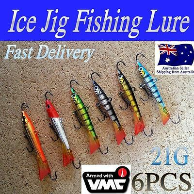 6 X 21g  LIKE FISHING ICE JIG REDFIN MICRO JIG JIGGING LURE TROUT BREAM  BASS