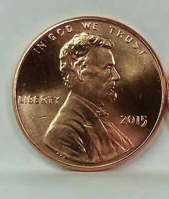 2015 P Lincoln Union Shield Cent, Brilliant Uncirculated-From Bank Rolls-1 Coin
