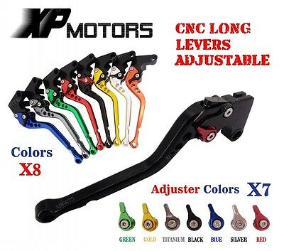 CNC Long Racing Brake Clutch Levers Suzuki GSXR600 04-05 GSXR750 K4 K5 04-05