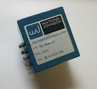 Watkins Johnson YIG Oscillator 12.4-18.0GHz