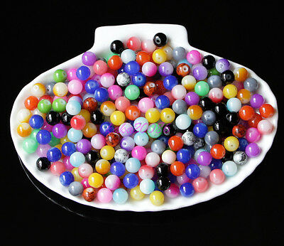 Lot 100pcsmixed color Turquoise oval loose beads For jewelry making 8x6mm