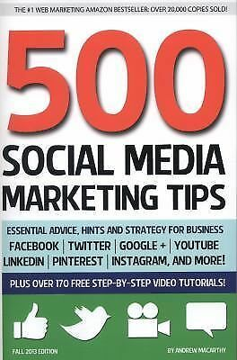 500 Social Media Marketing Tips Hints Strategy Facebook Twitter Arbonne Learn