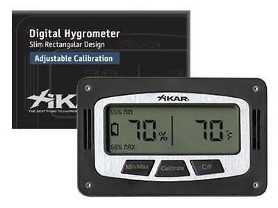 Xikar Hygrometer Digital Rectangle and Thermometer 2013 Model - 833xi