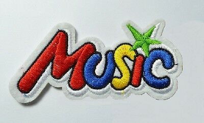 1 x music patch patches girls boys shirt jeans dress hat cap iron on sew on new