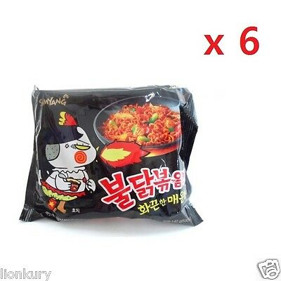6pcs Spicy Chicken Noodle Fire noodle korean spicy ramyun Buldak Bokkeum myun