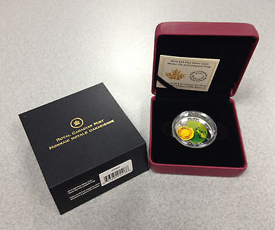 2014 Royal Canadian Mint $20 Water Lilly & Venetian Glass Leopard Frog Coin