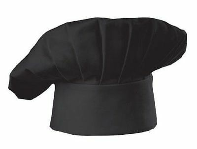 Chef Hat Baker Cloth Adjustable One Size Fit All Black
