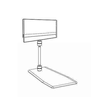 """Set Of 10 Stand Alone Plastic Price Info Holder Label Insert A7 4.2""""x2.7"""""""