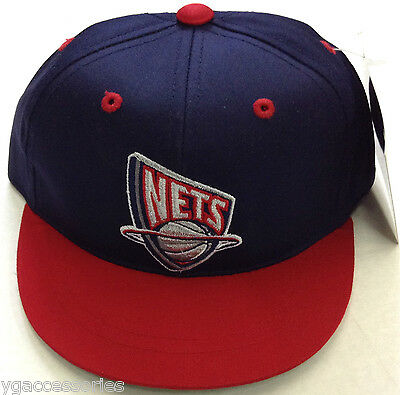 20fb01947b34 NBA NEW JERSEY Nets Vintage Toddlers Scrunge-Back Fitted Hat Cap NEW ...