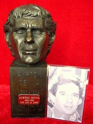 Ayrton Senna Bust Figurine Model Formula F1 Limited Edition Legends Forever