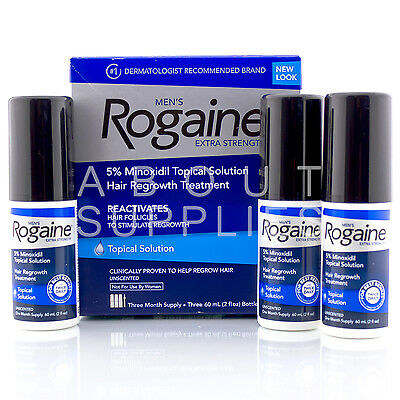 Rogaine For Men Extra Strength Topical Solution 3 Month Supply 5% Minoxidil