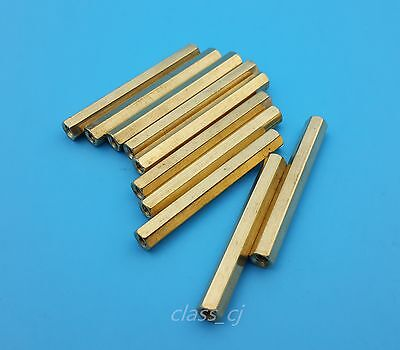 10Pcs M3*40mm Brass Nut Female Hexagon Standoff Spacer Pcb Mounting Tools