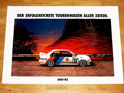 "BMW M3 E30 EVO POSTER 9 - "" SUCCESS SUN ART "" / ORIGINAL VINTAGE in MINT"