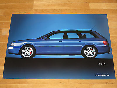 AUDI PORSCHE RS2 POSTER TURBO CUTAWAY / ORIGINAL VINTAGE in MINT