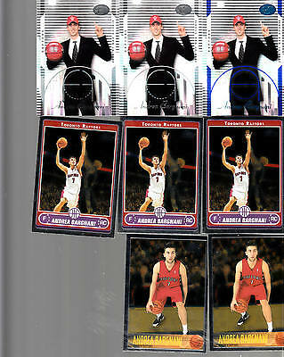 8x RC Lot Andrea Bargnani 2006-07 2x Elevation /999 1x Blue /399 5x Topps Chrome