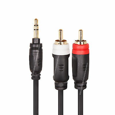 Cable Mini Jack Stereo a 2 RCA - 1,5 metros