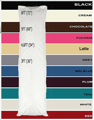 Bolster Pillow Case Maternity/Pregnancy Anti Bactrial Quality 3ft 4.6ft 5ft 6ft