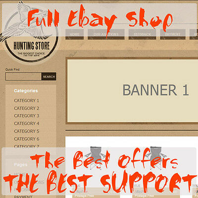 Ebay Professional Shop and Listing Template Package - Full Online Ebay Store