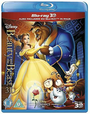 Beauty And The Beast Blu-ray 3D & Blu-ray Disc (2 Disc Set) Disney Movie New.