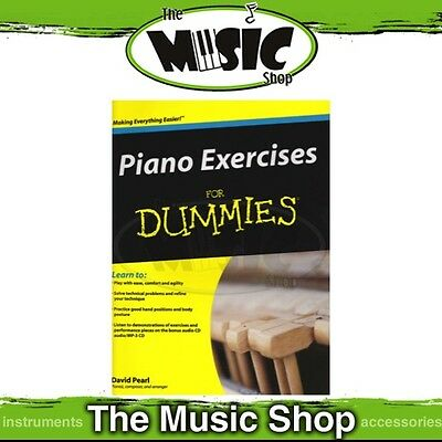 New Piano Exercises for Dummies Music Tuition Book & CD