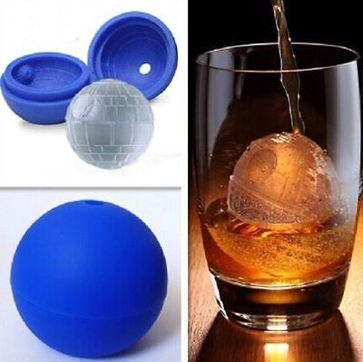 2X  3D Silicone Death Star Ice Cube Round DIY Mould Pudding Jelly Mold Ice Trays