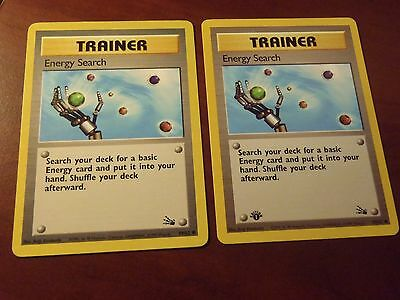 2 X POKEMON ENERGY SEARCH TRAINER CARDS 59/62 SLOT 14