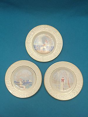 Weatherby Royal Falcon Gift Ware Set Of 3 Decorative Plates
