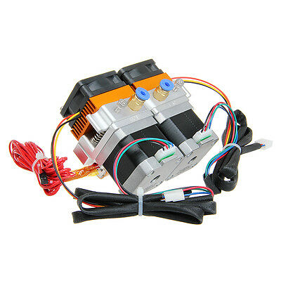 Geeetech Newest Dual Head MK8 dual Extruder 0.3mm Nozzle Makerbot 3D Printer