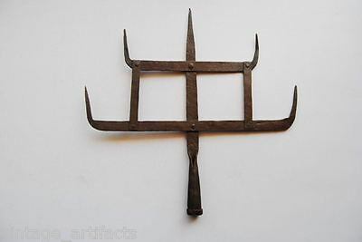 Antique Islamic Ottoman Turkish Arab Muslim Iron Alam Standard Insignia Finial
