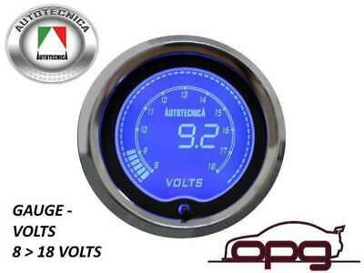 Performance Volts 52Mm Lcd Gauge 7 Colour Lighting (1 Guage)