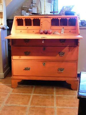 C19th painted georgian fall front bureau