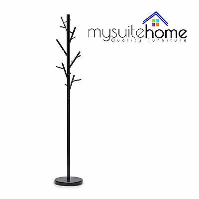Chloe Contemporary Metal Coat Rack/Hat Hanger Tree Stand with Metal Hooks