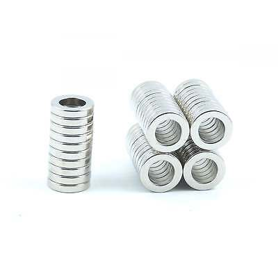 Small Strong 10mm x 6mm x 2mm N52 Neodymium ring magnets rare earth SMALL PACKS