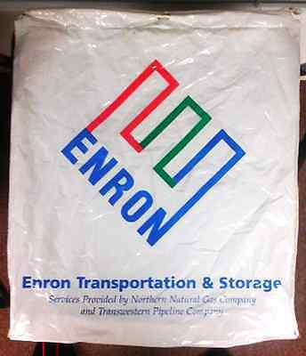 Giant ENRON Tote Shopping Bags - Lot Of 6 - Double-Walled Plastic