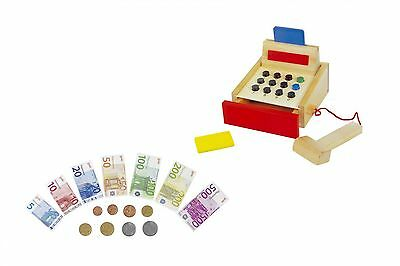 toy company cash register spielzeugkasse kinder kasse f r kaufladen mit zubeh r. Black Bedroom Furniture Sets. Home Design Ideas