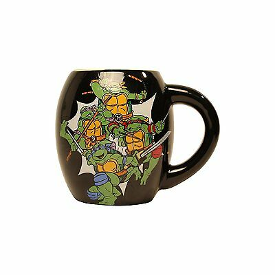 Nickelodeon TMNT Group Shot 18 oz. Oval Curved Ceramic Mug