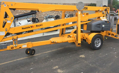 2010 Genie TZ50 Towable Electric Boom Lift  - JLG NIFTY BILJAX