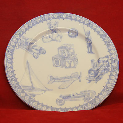 Vintage Queen's China Childrens Plate-Baby Boy Blue & White