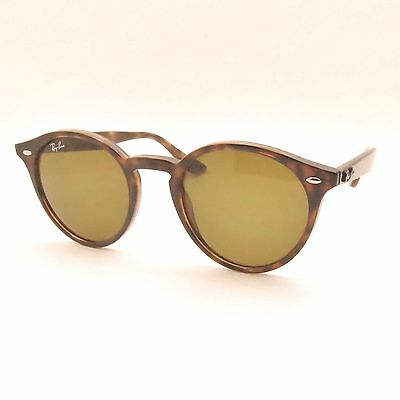 Ray Ban RB 2180 710/73 49mm Dark Havana Brown Sunglasses New Authentic