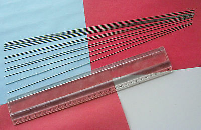 "15 pcs STAINLESS STEEL TUBING / NEEDLE 22RW Gauge OD.028"" X ID.016"" X 15.275"""""