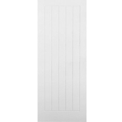 Internal White Doors VERTICAL 5 PANEL Moulded Primed Textured Premdor Door